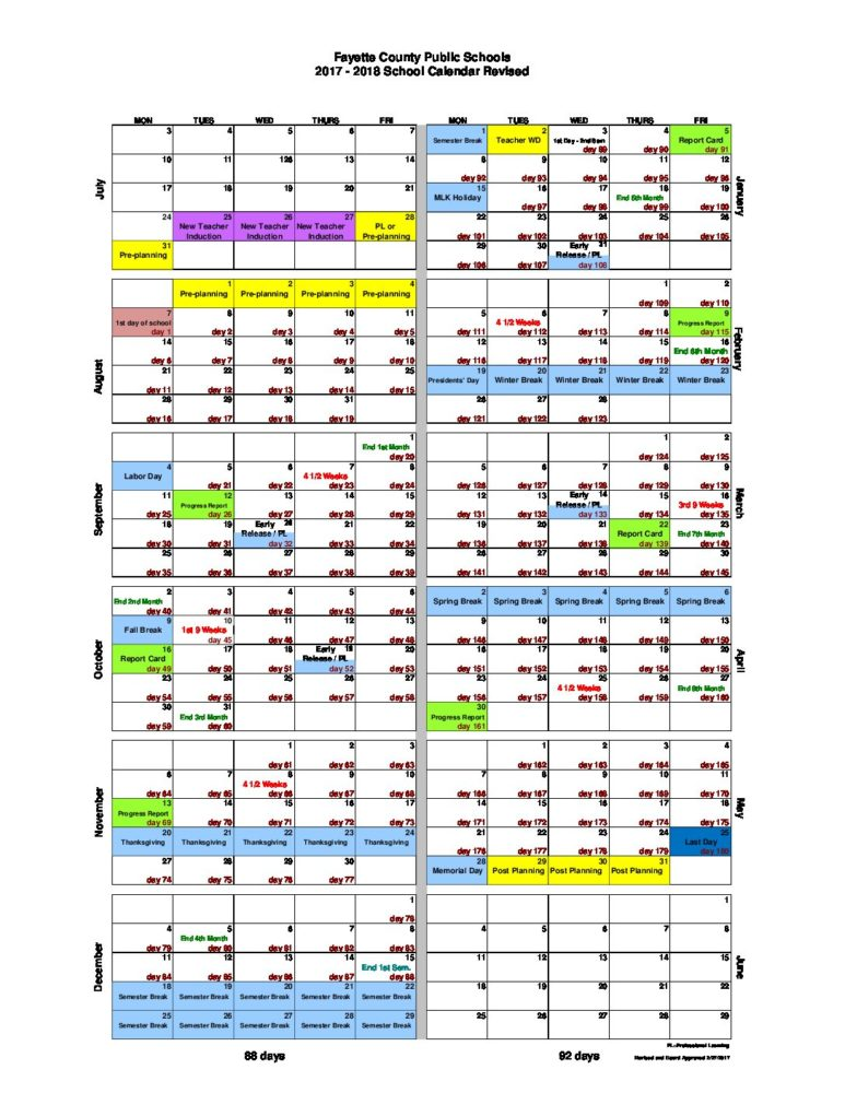 Central office modifies school calendar, adds more professional learning