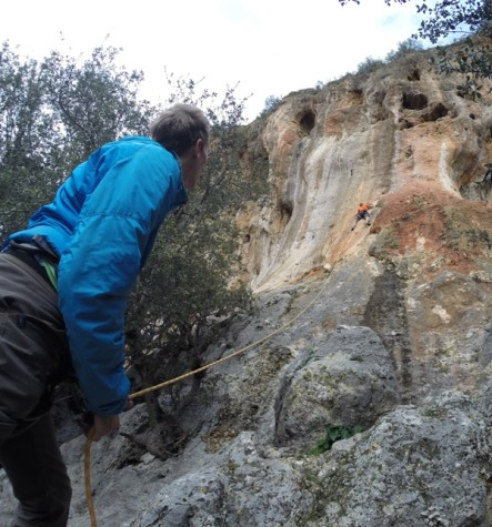 Sophomore 'takes a crack' at rock walls in Turkey
