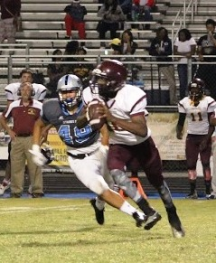 Forest Park was being pressured by the Panther defense all night, resulting in just 18 rushing yards on 30 carries and less than 200 yards of total offense.