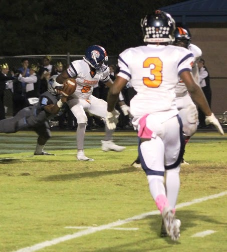 Senior defensive end Anthony Davis played a big part of the defense on senior night, helping to limit the Mundy's Mill Tigers to 176 yards of offense.