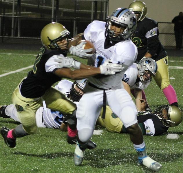 Sophomore running back breaks off a defender on his way to a three touchdown performance against Morrow. Frye has 11 touchdowns in three games.