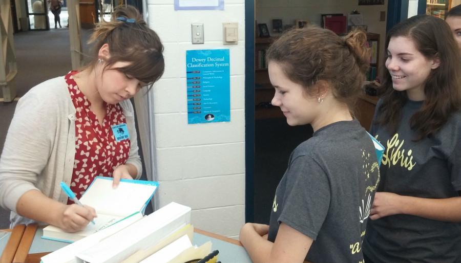 Local author Katie Stout discusses book with Ex Libris