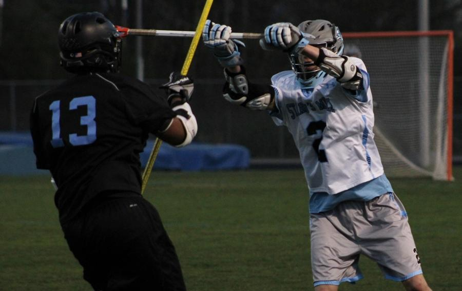 March 16, 2016 - A Panther defender stops the Raiders from advancing down the field. A staunch defense gave the team more offensive possessions and chances to score.