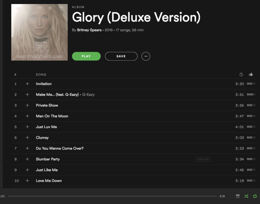 """Britney Spears released her new album """"Glory"""" on August 26. It can be streamed through the music application Spotify. This album marks Britney Spears' ninth studio release."""