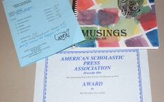 "Starr's Mill's literary-art magazine MUSINGS was named ""Most Outstanding"" by the American Scholastic Press Association last year. The ASPA receives high school literary-art magazines each year and judges the magazines based on content coverage, organization, design, presentation, and creativity."