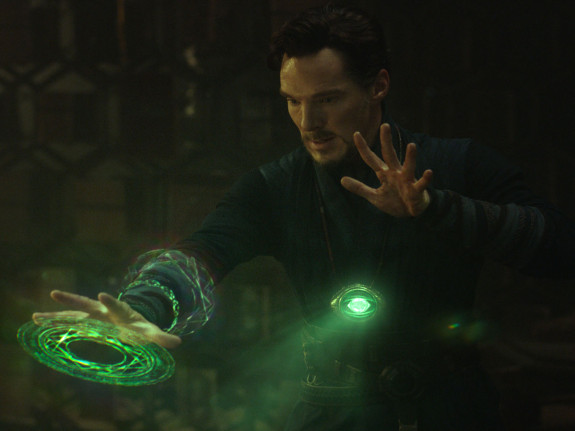 """Strange (Benedict Cumberbatch) conjures up a forbidden time spell that has only been successfully executed by the most elite sorcerers. The presence of magic throughout """"Doctor Strange"""" is crucial to the mystical illusion and development of the compelling plot of this new Marvel Studios release."""