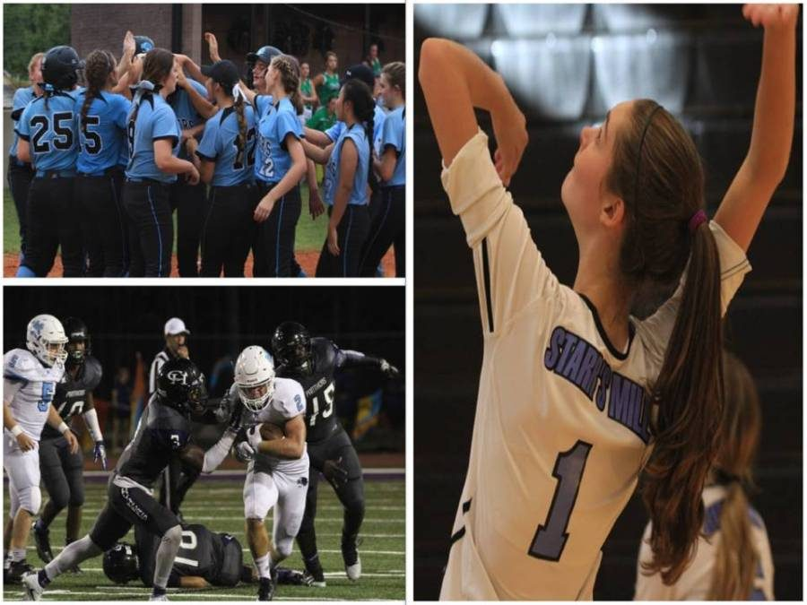 """The fall 2016 sports season was a successful one for volleyball, softball, and football players at the Mill. A number of Panther athletes received a region award or was selected for the All-County First or Second team depending on which sport they play. Junior and varsity softball player Emily Nieuwstraten. said that """"being named an All-County and region team was very important to me because it meant that all of [her] hard work had paid off."""" The game has taught her """"about teamwork and how you can't just play the game by yourself. You have to depend on the team as a unit,"""" Nieuwstraten said."""