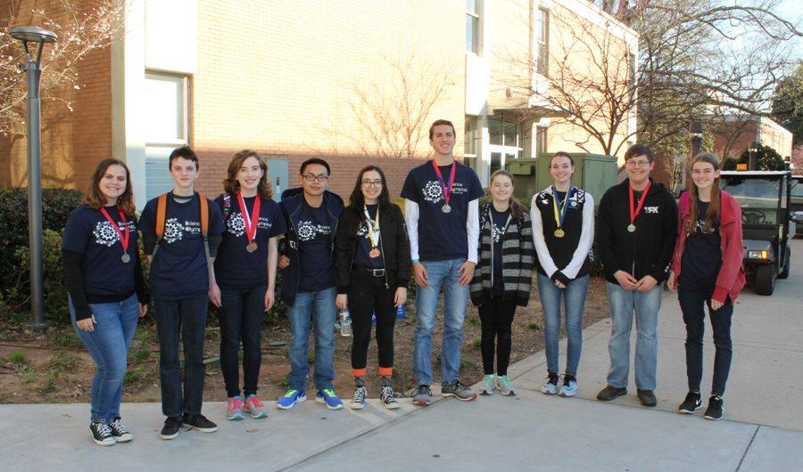 The Starr's Mill High School Science Olympiad team placed sixth at the Georgia Perimeter College Regional competition.