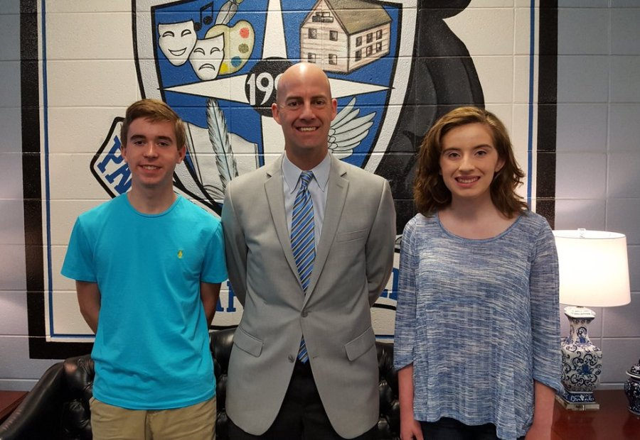Seniors Joshua Tysor and Aubrey Bennett were recently named as the Class of 2017's valedictorian and salutatorian. Both will deliver speeches at the Mill's graduation ceremony on May 26.