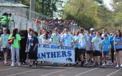 Athletes and volunteers for the annual Fayette County Special Olympics walk around the track at McIntosh High School for the Opening Ceremonies. Special Olympics is an annual event that allows students with disabilities an opportunity to showcase their athletic talents and to spend time with their peers'.