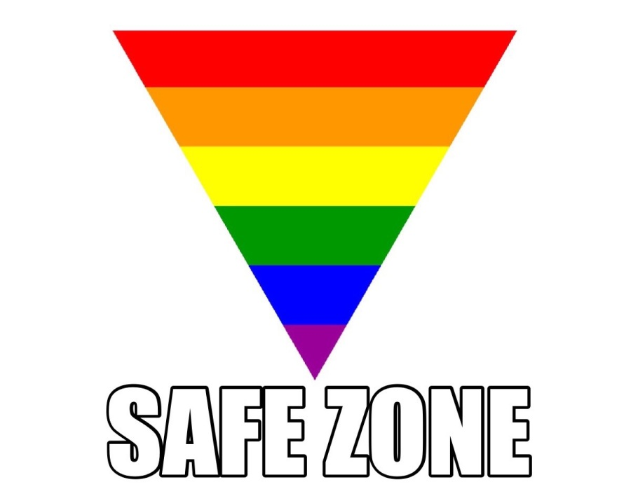 Many+%E2%80%9Cgay+safe%E2%80%9D+posters+have+the+pride+flag+in+a+triangle+with+the+words+%E2%80%9Csafe+zone%E2%80%9D+to+show+that+the+area+is+supportive+of+the+LGBT%2B+community.+The+posters+would+promote+change+in+the+school+system+allowing+the+LGBT%2B+students+to+feel+safe+in+the+school+environment.+