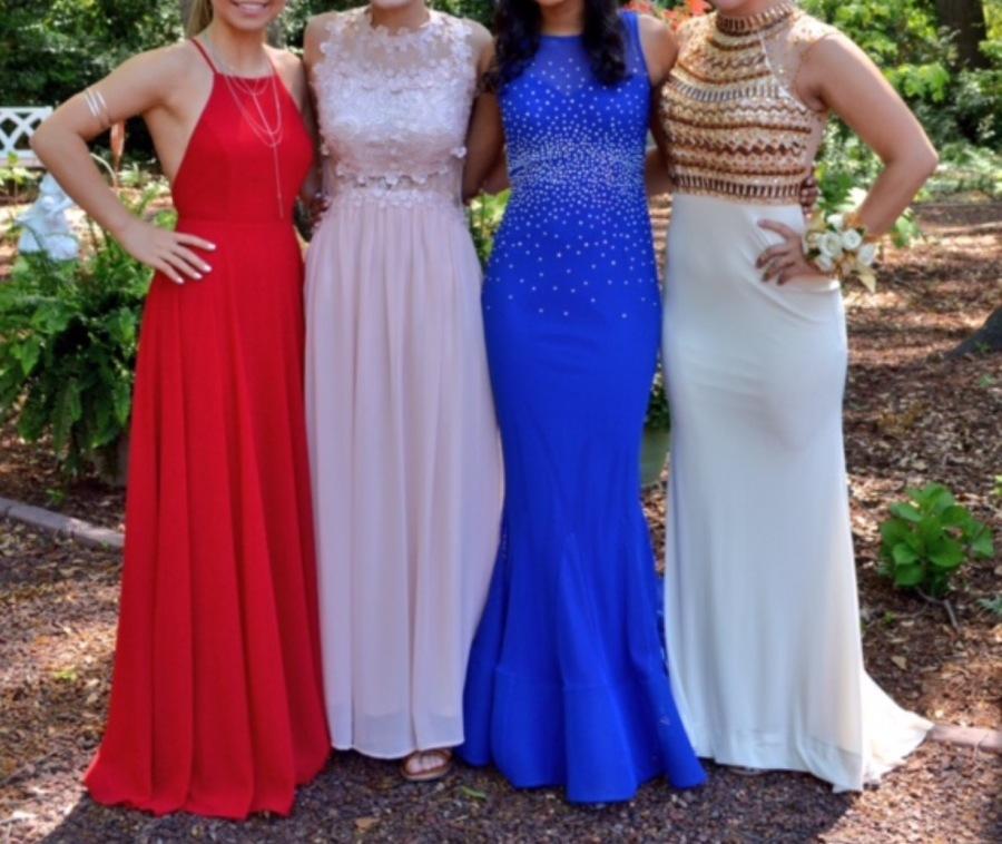 Four Prom Dresses