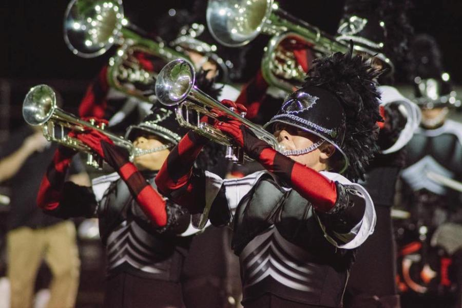 Senior Ryan Ragsdale performs with the Phantom Regiment. He marched trumpet with Regiment and also is marching his fourth year of trumpet with Panther Pride this year.