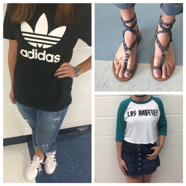 Students at the Mill show off different trends during the first three weeks of school. There are many styles floating around the school because everyone has their own style.