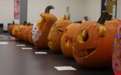Each class period submitted five to seven pumpkins to be evaluated by their peers. The winning pumpkins were Nightmare on Sesame Street, UP!, The Falsely Accused, BOO! Snapchat me that pumpkin!, and Under the Pumpkin.