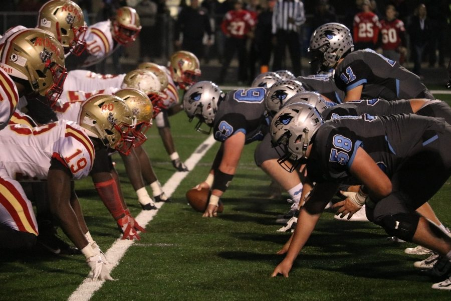 Rome+and+Starr%E2%80%99s+Mill+line+up+helmet-to-helmet.+Rome%E2%80%99s+defensive+line+featured+three+players+committed+to+Division+I+universities.+