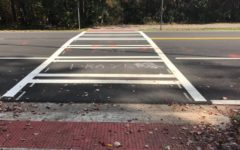 On Nov. 6, the third wreck this year occurred on the Foreston Place crosswalk. The crash sent one student to the hospital. County officials are developing a plan to re-route the golf carts to make crossing Redwine Road safer for students.
