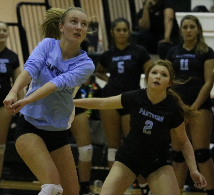 A+Lady+Panther+sets+up+to+hit+a+ball.+The+Mill+lost+to+McIntosh+3-0+in+the+final+four+of+the+AAAAA+GHSA+state+playoffs.