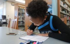 Starr's Mill student plans her studying schedule to prepare for finals. Writing out a schedule is the easiest way to stay organized and eliminate the stress of fitting tasks into a busy day.
