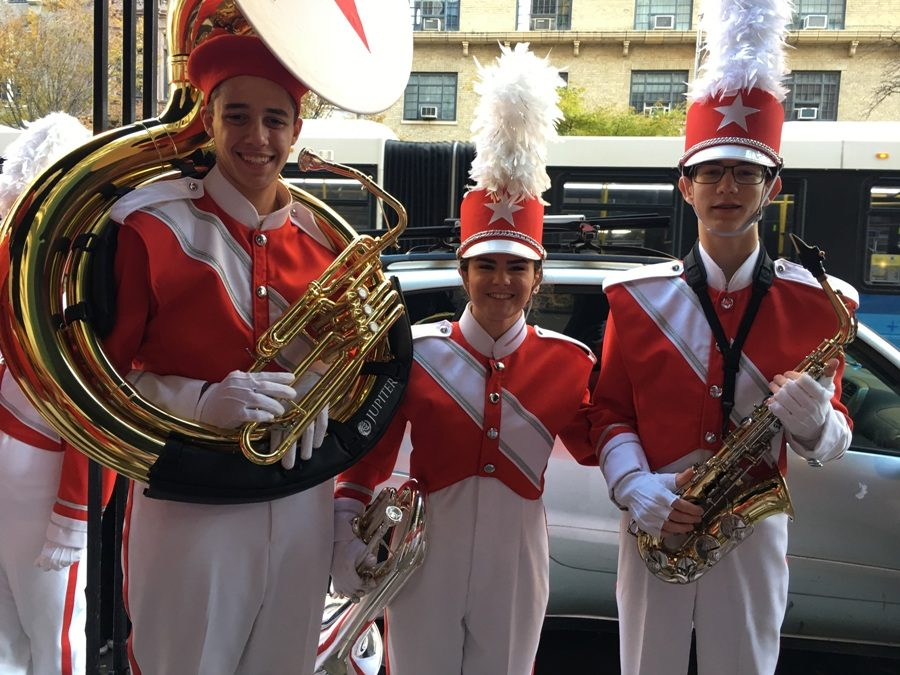 On Nov. 23, three Starr's Mill students traveled to New York to march in the 2017 Macy's Thanksgiving Day Parade. The marchers performed with the Macy's Great American Marching Band and helped ring in the Christmas season.