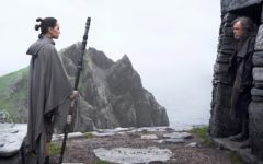 """Rey (Daisy Ridley) and Luke Skywalker (Mark Hamill) meet for the first time. Rian Johnson's """"The Last Jedi"""" is plenty daring, but offers nothing resembling a logical sequel to Episode VII."""
