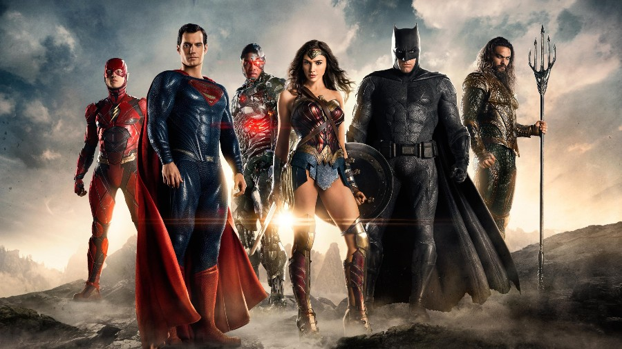 The Justice League stands together, prepared to fight whatever comes their way. Ben Affleck (Batman), Henry Cavill (Superman), Gal Gadot (Wonder Woman), Ezra Miller (The Flash), Jason Momoa (Aquaman), and Ray Fisher (Cyborg) come together in one huge blockbuster combining a mix of loveable personalities to make some movie magic.