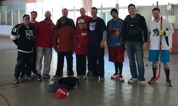 Two days before the new year, several Starr's Mill teachers played street hockey. Genovese organized this event and it has been a tradition for six years.