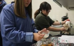 Culinary art students bake king cake just in time for Mardi Gras. The cakes were requested by the French Department to allow students to fully embrace the French origins of Mardi Gras.