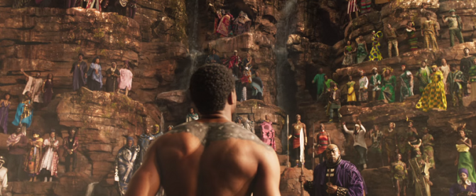 """T'Challa, the Black Panther, prepares to prove himself as the king of Wakanda in ritual combat. This ritual is one of the many newly introduced concepts that make """"Black Panther"""" stand out among other movies of the superhero genre."""