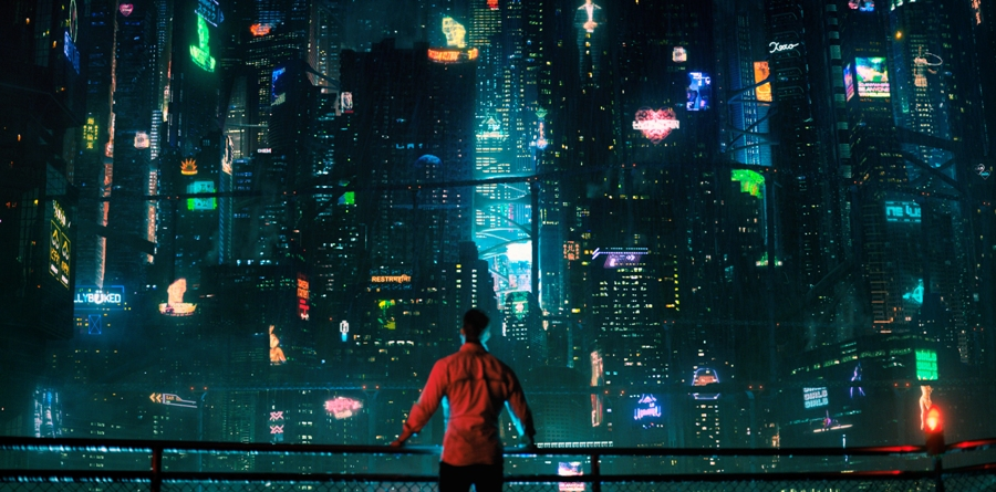 """Takeshi Kovacs takes in the sight of Bay City, where he finds himself brought back to life 250 years after dying. Netflix's science fiction series """"Altered Carbon"""" presents a fantastic world where the human mind can be transferred from body to body with ease."""