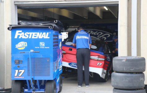 Ricky Stenhouse Jr. topped the speed charts in the first MENCS practice at Atlanta Motor Speedway.
