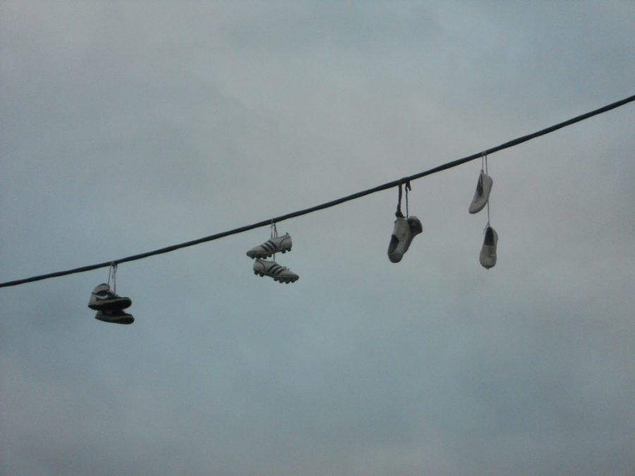 Shoes tied up and slung across wires such as the picture shown above are a common sign that drug dealers are selling products nearby. However serious this problem is, putting the death penalty on the table will not do anything to help end this huge nationwide dilemma.