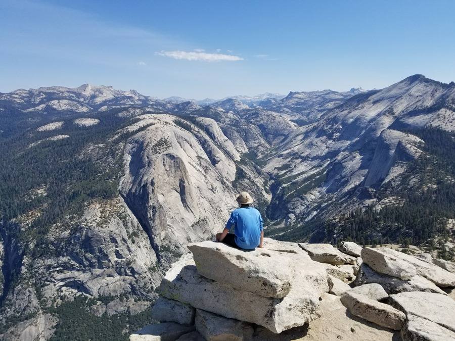 Starr's Mill student gazes out over the mountainous landscape of Yosemite Valley in Yosemite National Park. Wherever your summer takes you, don't forget to take your music with you.