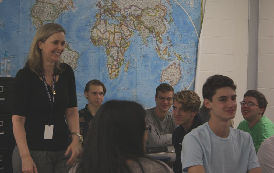 Diane Ruane is finishing her last year of teaching AP World History. She has taught the class for five years and will be retiring from it to spend time earning her Master's degree.