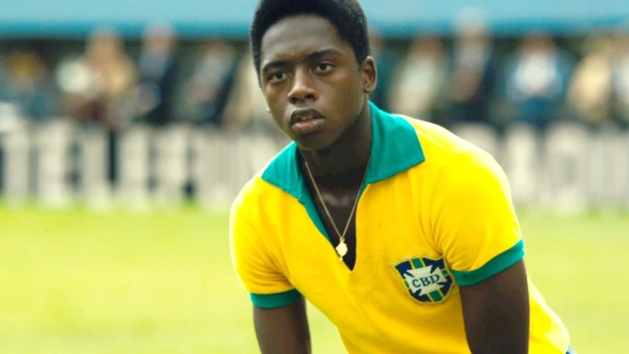 """Kevin de Paula, seen here playing in the 1958 World Cup final, portracy Pele in """"Pele: Birth of a Legend."""" In the movie, De Paula accurately portrays the struggles and accomplishments Pele fulfilled throughout his life."""
