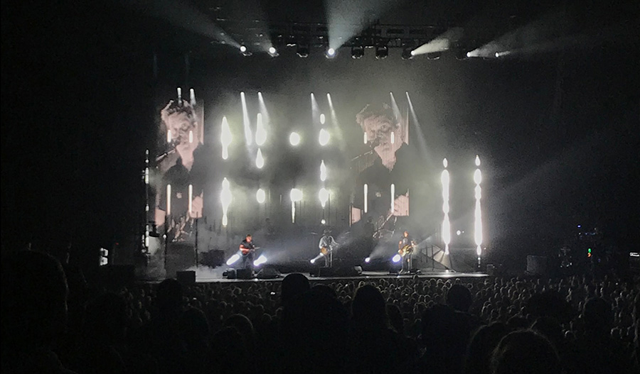 South Carolina rock band, NEEDTOBREATHE, performs at the Verizon Amphitheater in Atlanta, Georgia. The band recently came to Atlanta on their domestic tour, which will last until October