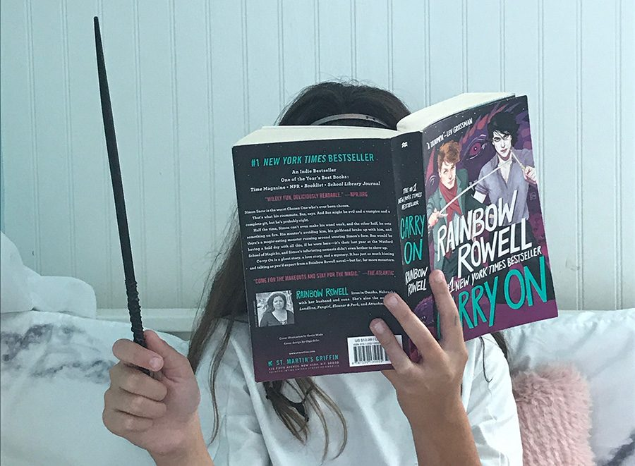 %E2%80%9CCarry+On%E2%80%9D+tells+the+story+of+Simon+Snow+and+his+place+in+the+magical+World+of+Mages.+This+book+was+Rainbow+Rowell%E2%80%99s+first+attempt+at+a+fantasy+novel%2C+and+it+exceeds+expectations+at+every+turn.