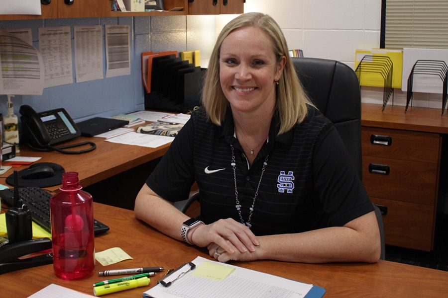 Brandi+Meeks%2C+the+new+assistant+principal+at+Starr%E2%80%99s+Mill%2C+has+returned.+After+teaching+Spanish+for+21+years%2C+Meeks+has+stepped+up+to+take+an+administrative+position.