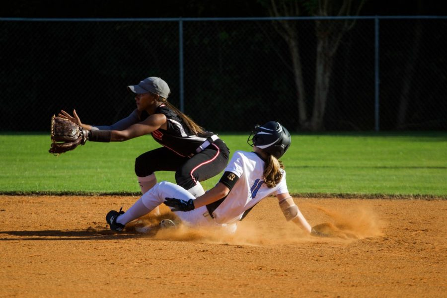 Sophomore+Sydney+Blair+slides+into+second+base.+The+Lady+Panthers+jumped+out+to+a+4-0+lead+over+Whitewater+in+the+first+game.+The+highlight+of+the+first+inning+was+a+2-RBI+single+from+junior+Paige+Andrews.+