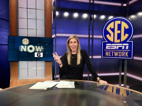 Former Panther Mary Chaudoin during her time with the SEC Network. Chaudoin started working for the channel when it first launched in 2014 and continued to work there for the next three years before getting a job with CNN.