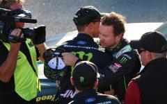 Kurt Busch, fellow Stewart-Haas drivers claim front rows for 1000bulbs.com 500
