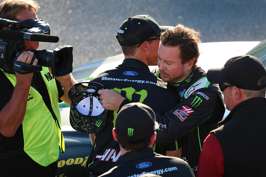 Kurt Busch, driver of the No. 41 Monster Energy Ford for Stewart-Haas Racing, won the pole for the 1000Bulbs.com 500. Busch's teammates will line up behind him in positions two through four.