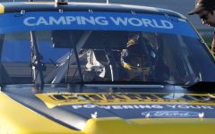 Enfinger struggles early, shows speed late