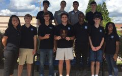 Varsity math team wields its third place plaque from recent competition at Luella High School. The team competes again on Oct. 27 at Rockdale High School.