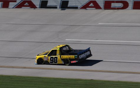 Grant Enfinger, driver of the No. 98 Champion Power Equipment/Curb Records Ford F-150 for ThorSport Racing, finished third in final practice after having engine issues in the first session. Enfinger is already locked into the next round of the playoffs, so his results at Talladega won't affect his championship run.