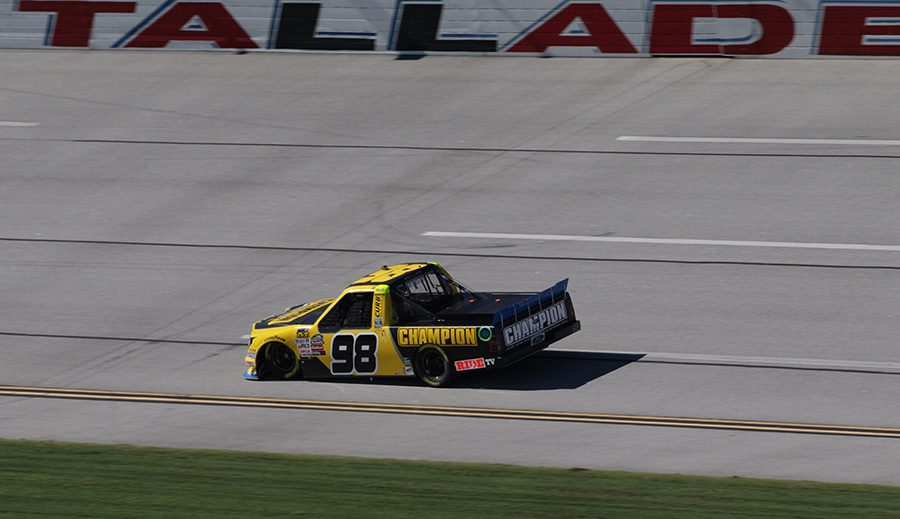 Grant+Enfinger%2C+driver+of+the+No.+98+Champion+Power+Equipment%2FCurb+Records+Ford+F-150+for+ThorSport+Racing%2C+finished+third+in+final+practice+after+having+engine+issues+in+the+first+session.+Enfinger+is+already+locked+into+the+next+round+of+the+playoffs%2C+so+his+results+at+Talladega+won%E2%80%99t+affect+his+championship+run.+