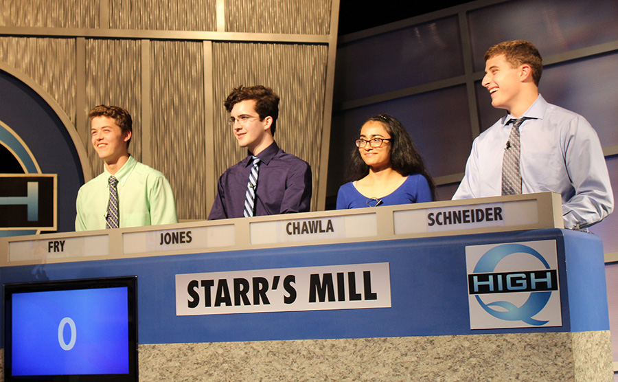 "The Starr's Mill academic team traveled to Atlanta to compete in the local game show ""High-Q."" The team competed well though they fell to Dunwoody High School."