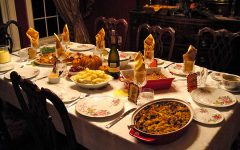 Table set up for Thanksgiving with all of the tempting holiday foods. With Thanksgiving and Christmas around the corner there will be many distractions to your goals, but there are five things that can help prevent that.