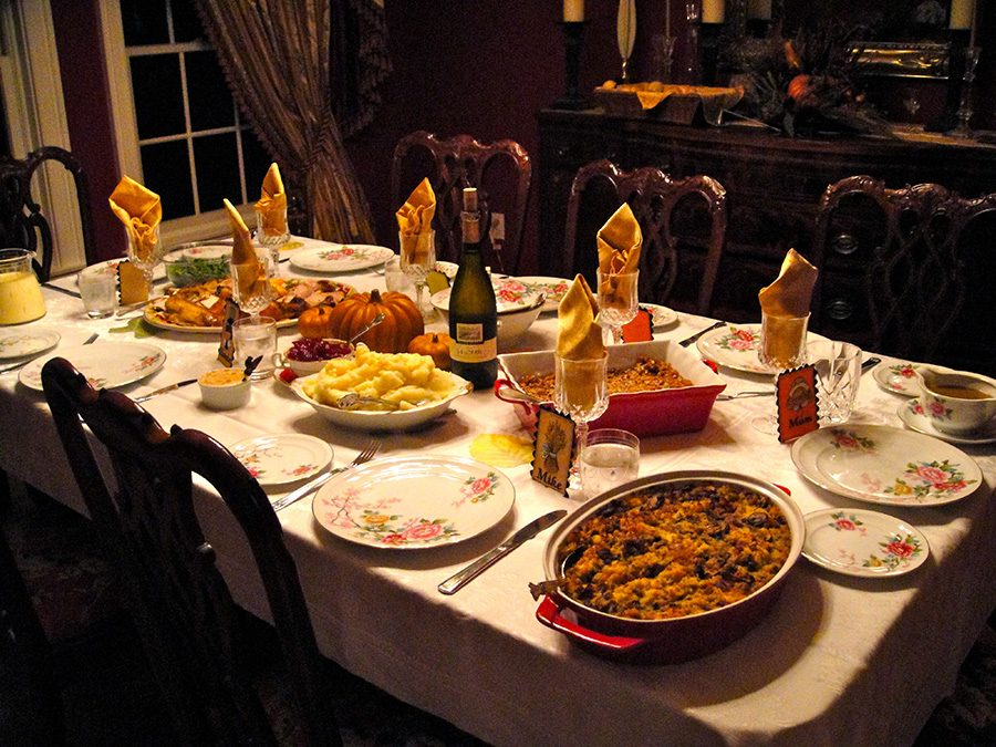 Table+set+up+for+Thanksgiving+with+all+of+the+tempting+holiday+foods.+With+Thanksgiving+and+Christmas+around+the+corner+there+will+be+many+distractions+to+your+goals%2C+but+there+are+five+things+that+can+help+prevent+that.