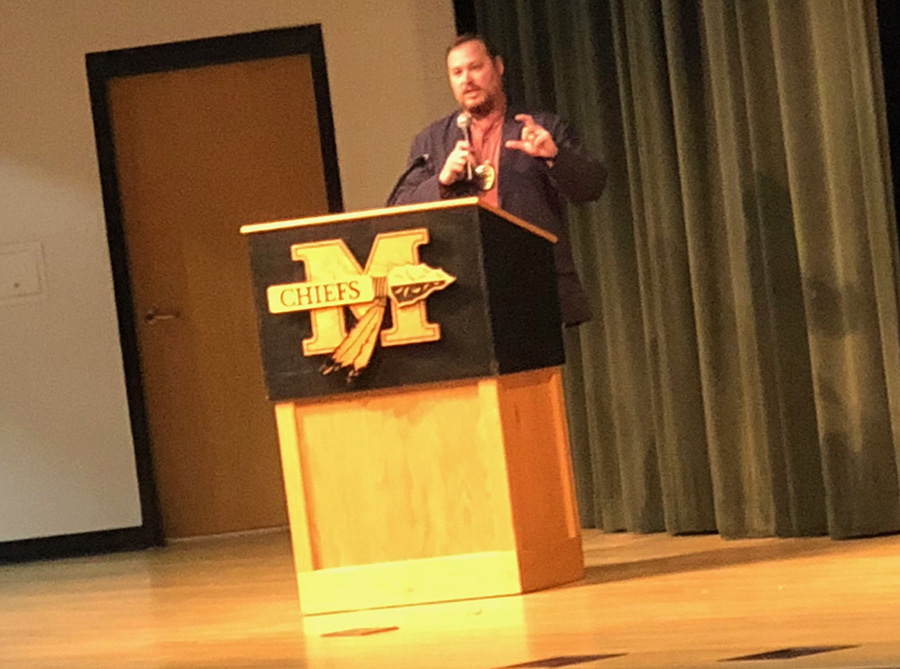 McIntosh High School hosted a stakeholders' meeting on Nov. 15. The meeting talked about their school's future plans and vaping in the county.